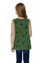Koszulka Little Girl z zielonym nadrukiem gwiazdy