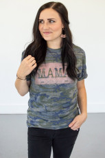 Camiseta con estampado de camuflaje MAMA