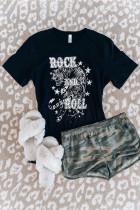 T-shirt gráfico Black Rock N Roll Star