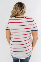 Stripes & Stars Plus Size T-shirt