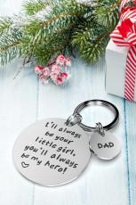 Daddy Always Be My Hero Keychain จากพวงกุญแจจี้ลูกสาว