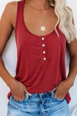 Tricou liber cu buton roșu