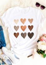Tricou alb Be Kind Heart Heart