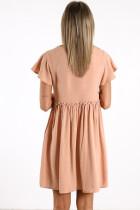 Μίνι φόρεμα με ροζ μπλουζάκι με μπλουζάκι και μπλουζάκι