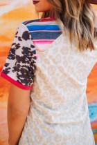เสื้อกล้ามลายเสือดาวสีสันสดใส