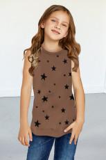 Czołg Little Girl z brązowym nadrukiem w gwiazdki