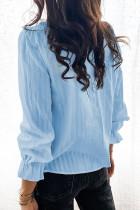 เสื้อเชิ้ตแขนพองสีฟ้า