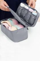 Grey Travel Portable Bra Underwear Storage Bag