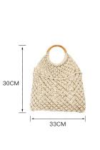 白いボヘミアン織りかぎ針編みのハンドバッグ