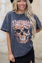 Μείνετε Wild Leopard Skull Tee