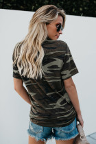 Green Coffee Graphic Camo Tee