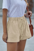 กางเกงขาสั้นสีกากี Strive Pocketed Tencel
