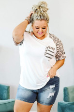 Plus Size Double Pocket Top