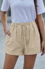 Pantaloncini in tencel con tasca Khaki Strive