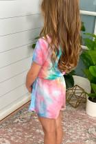 روز صبغ التعادل قصيرة الأكمام رومبير الفتاة الصغيرة