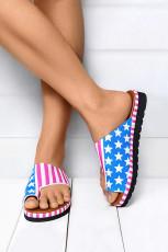 Sandały Flip Flop z nadrukiem flagi