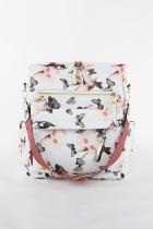 Biały plecak z nadrukiem motyla