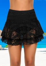Spódnica do pływania z koronką w kolorze czarnym