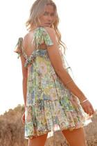 Wielokolorowa sukienka z szyfonu w kwiaty