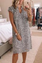 Φόρεμα Shift με μανίκια με κουκκίδες