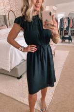 Φόρεμα Shift με μανίκια σε μαύρο χρώμα