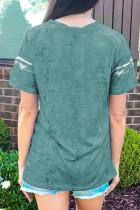 Μπλουζάκι με γραβάτα με πράσινο χρώμα