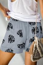 Floral Print Drawstring Casual Ελαστική μέση με τσέπες