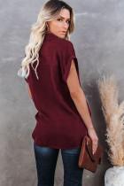 Κοντό μανίκι πουκάμισο με κόκκινο κρασί