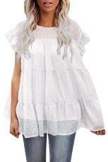 Λευκό πουκάμισο Polka Dot Babydoll