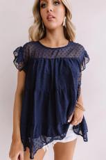 Μπλούζα μπλουζάκι με στυλ Polka Dot Babydoll
