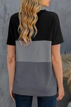 Sort Contrast Colorblock T-shirt