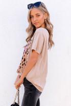 Crew Neck Leopard Square MAMA Grafisk T-shirt