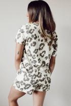 Casual Leopard Print Summer Lounge Set