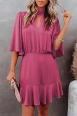 Rose Fashion Forward Keyhole Dress