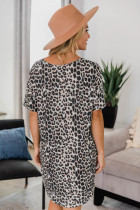 V-hals T-shirt med dyreprint Mini-kjole med lommer