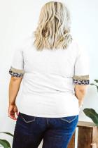 Sequin Leopard Accent Plus-størrelse T-shirt