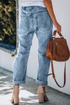 Løbegang Høj talje Daisy Patches Jeans med lige ben