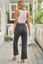 Sort elastisk taljebånd med brede benbukser