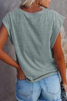 Bomuldsblanding rund hals T-shirt