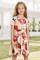 Crewneck Κοντό μανίκι Floral Girl's Midi Dress